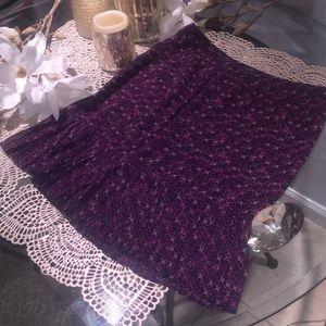 Dresses & Skirts - Purple Floral Print Skirt